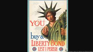 You / Buy a Liberty Bond Lest I Perish, United States, 1917, Charles Raymond Macauley (1871–1934), color lithograph, 40 ¼  × 29 ¾ in. The Huntington Library, Art Collections, and Botanical Gardens., gift of Charles Heartwell.