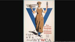For Every Fighter a Woman Worker, United States, American Lithographic Co., ca. 1918, Adolph Treidler (1886–1981), color lithograph, 39 × 28 1/4 in. The Huntington Library, Art Collections, and Botanical Gardens.