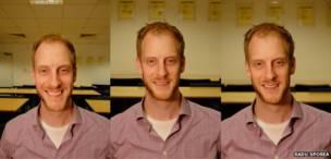 Tres fotos con diferentes ajustes