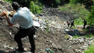 Basurero en Cocula, Guerrero, donde aparecieron restos de estudiantes desaparecidos. Foto: PGR