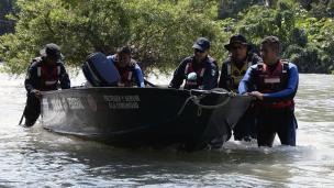 Búsqueda de estudiantes desaparecidos en Cocula, Guerrero. Foto: AFP/Getty