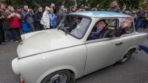 Automóvil Trabant en Alemania.