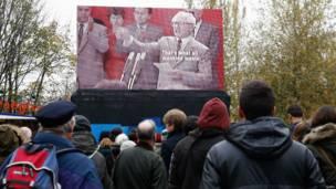 Video al aire libre en Berlín.