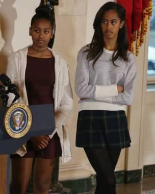 Саша и Малия Обамы