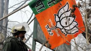 भारतीय जनता पार्टी का झंडा, सैनिक