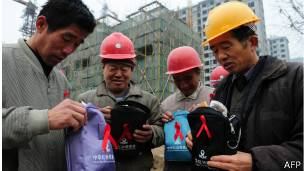 China campaña contra el sida