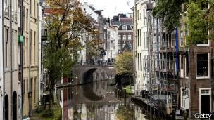 Casas en canales en Holanda