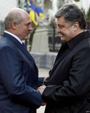Встреча Лукашеко и Порошенко в Киеве