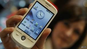 Pantalla táctil de un celular
