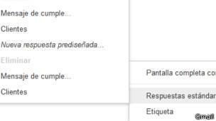 Respuesta estándar de Gmail