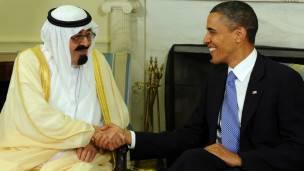 शाह अब्दुल्लाह और ओबामा