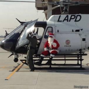 Ação da polícia com Papai Noel | Foto: Divulgação
