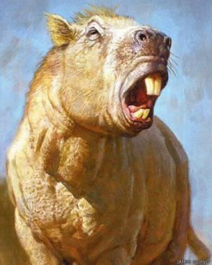 Josephoartigasia monesi (Imagem: James Gurney)