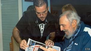 Fidel Castro con Randy Perdomo