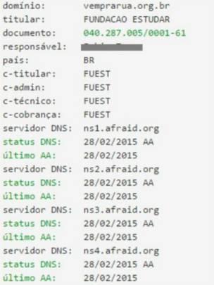 Registro do site vemprarua.org.br (Reprodução)