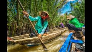 Viaje en bote, Río Mekong, Vietnam. Hamlito Jr Arayan Nocete