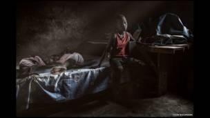 Niños en Ndiaganiao, Senegal, por Yvon Buchmann.