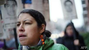 Protesta en Washington por la desaparición de 43 estudiantes en Iguala, Guerrero, México.