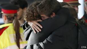 Familiares de las víctimas del vuelo de Germanwings