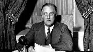 El presidente Roosevelt firmó el Acuerdo Anglo-Americano en 1944.