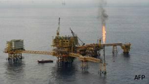 Plataforma de Pemex en el Golfo de México