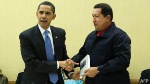 Obama y Chávez