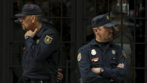 Agentes de policía en Madrid