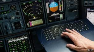 Sistema de navegacion de un avión
