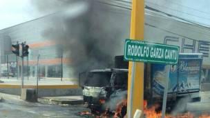 Violencia en Reynosa, Tamaulipas, por la captura de El Gafe. Foto: AFP