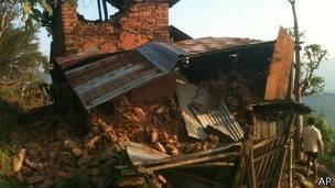 Zona rural de Nepal afectada por el terremoto