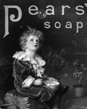 Un aviso de jabón antiguo