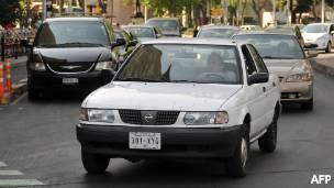 Autos en las calles de Ciudad de México