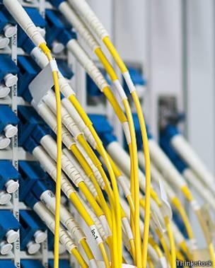 Cables conectados a computadoras