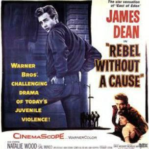 """Un afiche de la película """"Rebelde sin causa"""""""