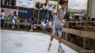 Pista de hielo en La Habana