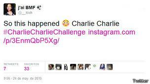 Primer tuit de Charlie Charlie
