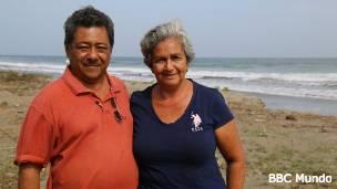 Blanca Neris Chávez y su marido