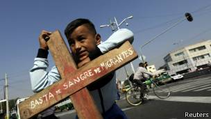 Protesta por la situación de los migrantes en México