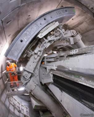 Una tuneladora en operación