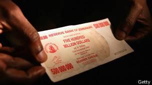 Billete de Zimbabue