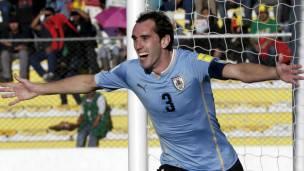 Godín marcó su gol en el minuto 69.