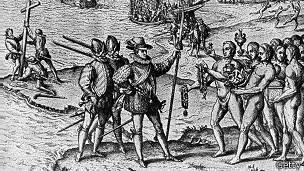 Llegada de Cristóbal Colón