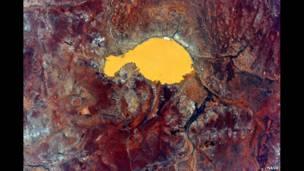 القارة الأسترالية من الفضاء