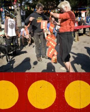 Personas bailando en Christiania