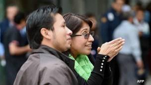 Jóvenes tras un sismo en Ciudad de México
