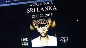 Imagen de la web de la gira de Enrique Iglesias