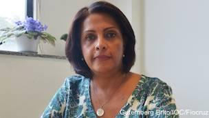 Ana Bispo, viróloga del laboratorio de flavivirus del Instituto Oswaldo Cruz, en Río de Janeiro.