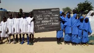 Estudiantes en Dikwa