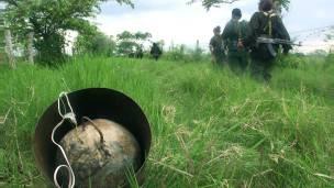 Explosivo del ELN (foto de archivo)