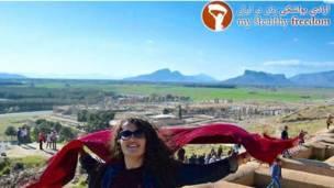 Туристка в Иране